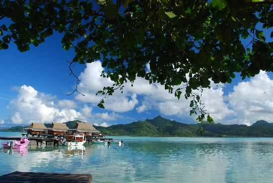 Vahine Island Resort: débarcadére de vahiné