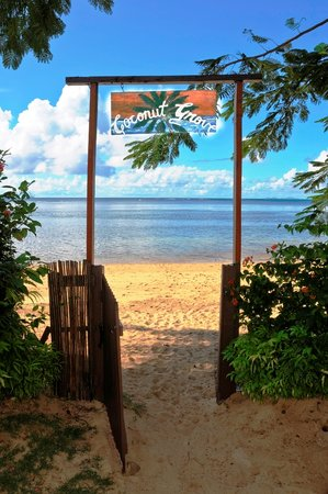 Coconut Grove Beachfront Cottages: Your beach entrance