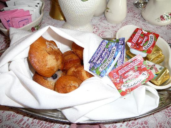 Basket of Mini-Muffins at Victoria's Restaurant