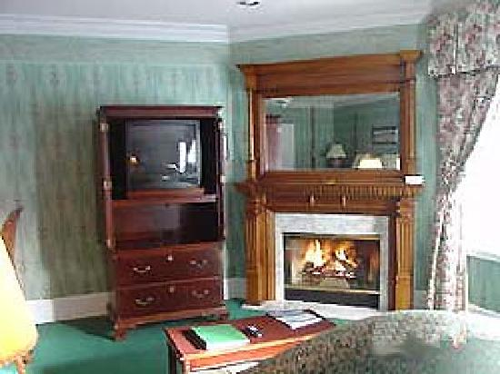 Mountain Brook Suites: gas log fireplace in each Suite