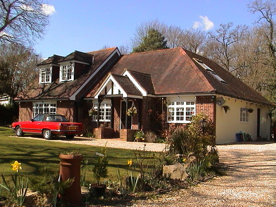 New Milton, UK : Woodlands - front view