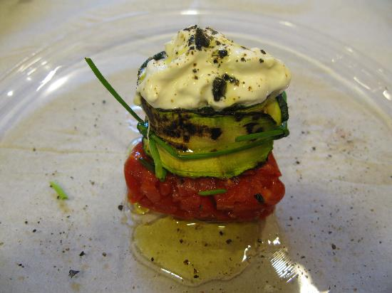 Gourmet Giglio Bianco B&B: Appetizer of Special dinner at Giglio Bianco