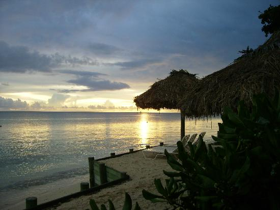 Castaway Island Fiji: sunset from Castaway