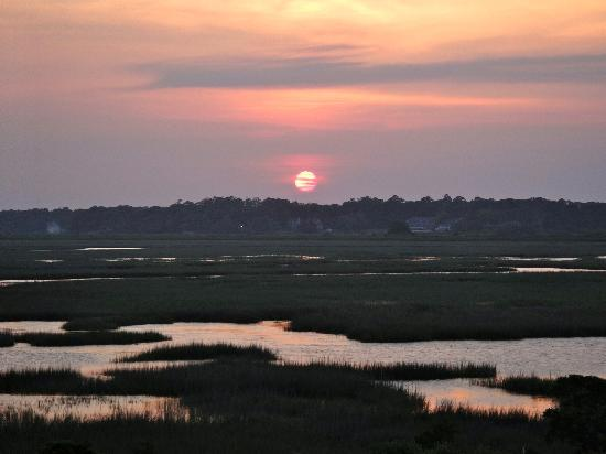 Sunset over the salt marsh at The Sunset Inn