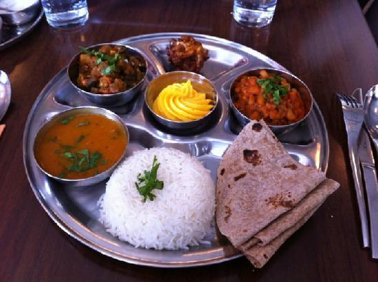 Prashad Indian vegetarian restaurant: The Thali