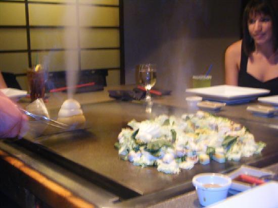 Samurai Japanese Steak House: The valcano made from onions