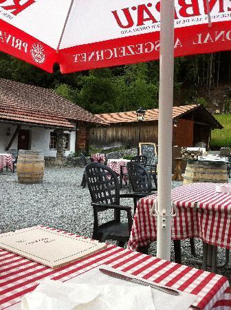 Restaurant Säumertaverne: Auf der Terrasse