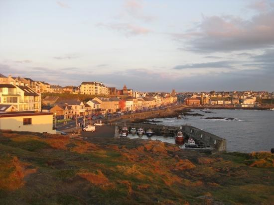 view of lovely Portstewart taken from the breathtaking vantage point behind Cul Erg bed & breakf