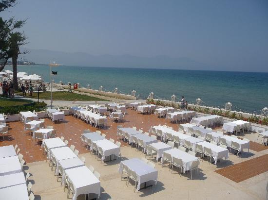 Ephesia Holiday Beach Club: Terasse restaurant vue sur mer magnifique