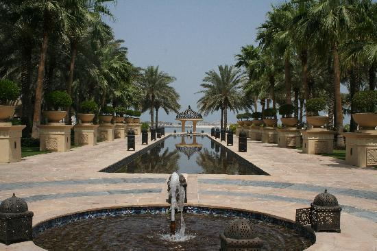 The Palace at One&Only Royal Mirage Dubai: The view from Celebrities Restaurant