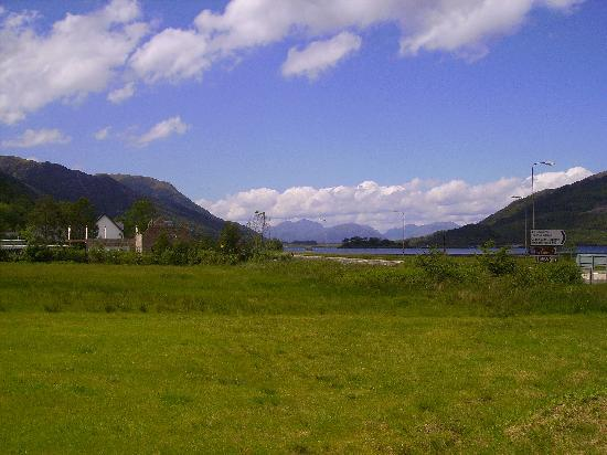 The Glencoe Inn: The view from the restaurant terrace