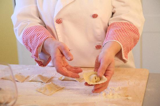 Province of Arezzo, Italien: pasta making