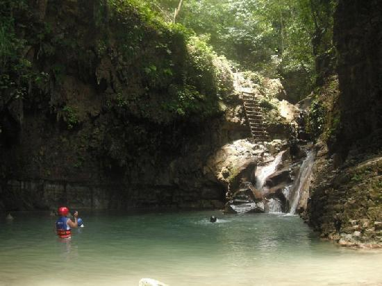 Damajaqua Cascades (27 Waterfalls) : Waterfall site - this will be the last waterfall you JUMP off of!