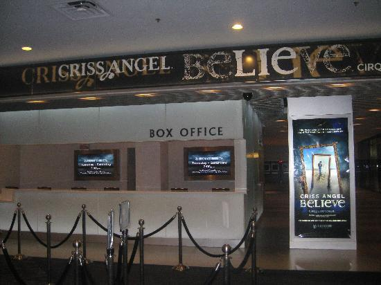 Criss Angel Believe : Believe Box Office- Luxor