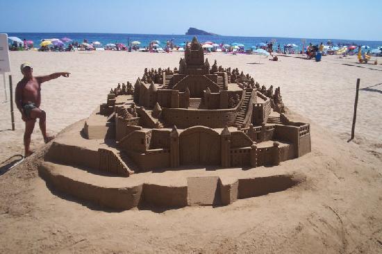 Benidorm, España: On the beach!
