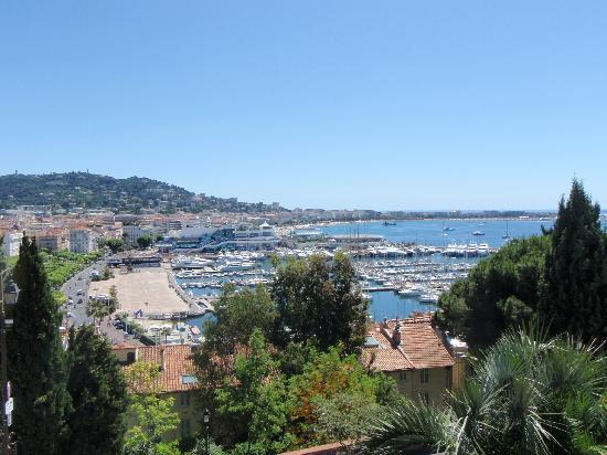 Petit Train de Cannes: The view from the top. Train stops here briefly