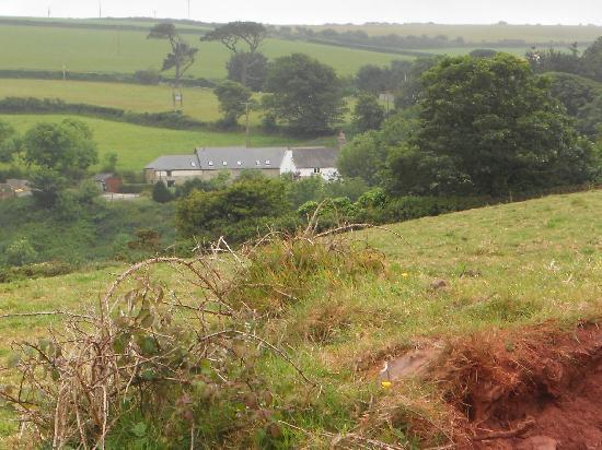 Bolberry Farm Holiday Cottages: Cottages from the other side of the valley