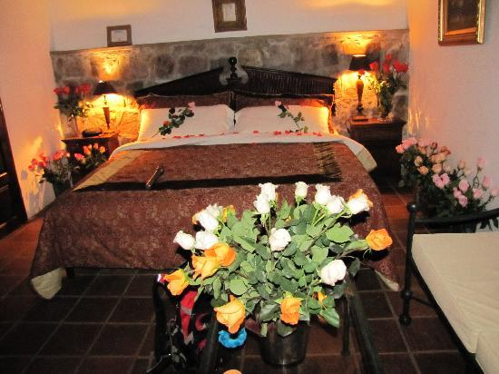 Casa Lobo Bungalows: Roses in room 2