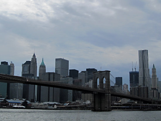 New York Water Taxi: Brooklyn Bridge, as seen from the NY Water Taxi