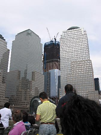 New York Water Taxi: One World Trade Center construction, as seen from the NY Water Taxi
