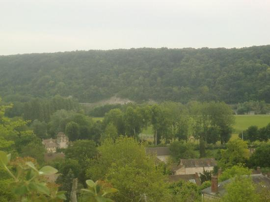 Moulin des Chennevieres: view from a nearby hilltop