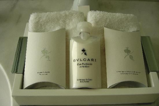 Grand-Hotel du Cap-Ferrat: Bulgari toiletries