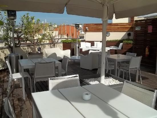 Hotel America Barcelona : Terrasse
