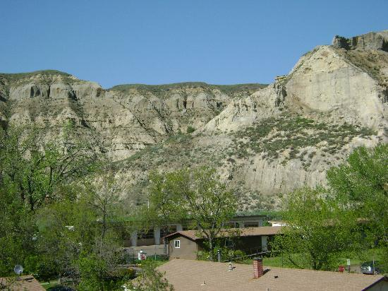 Rough Riders Hotel: View of the Badlands from the room's balcony
