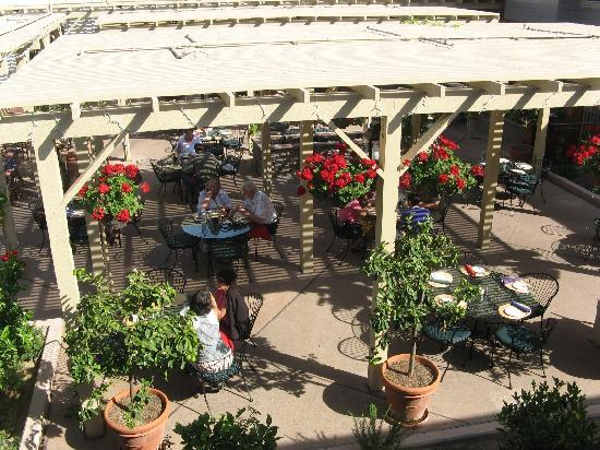 Enjoy the courtyard at Cosmopolitan Hotel and Restaurant San Diego