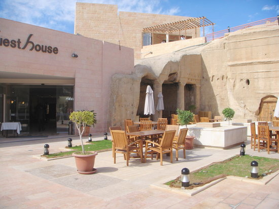 Petra Guesthouse: Crowne Plaza Entrance -- Guest House is to the right