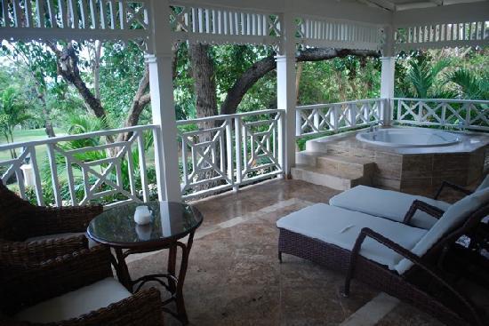 Luxury Bahia Principe Cayo Levantado Don Pablo Collection: Our huge deck!!