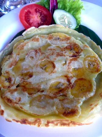 Villa Kunang Kunang: Yummy banana pancakes