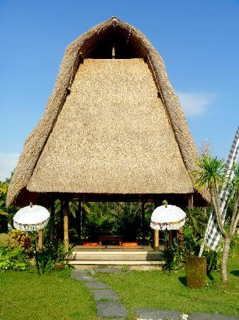 Villa Kunang Kunang : Wellness Pavillion overlooking ricefields