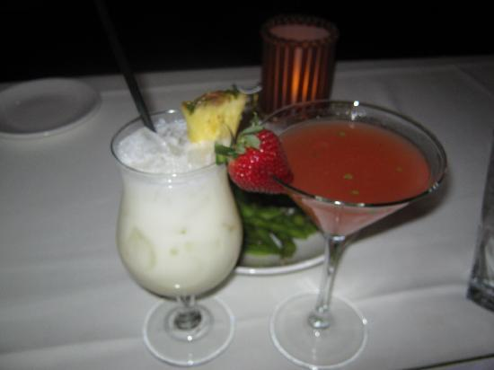 Roy's: strawberry basil martini /Asian colada