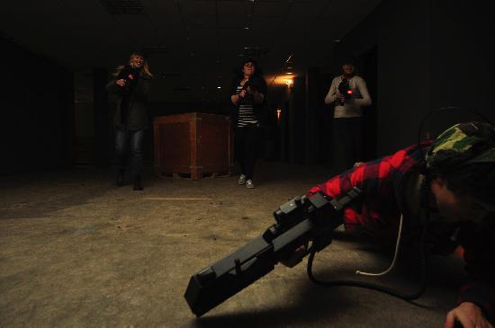 Absolutely Combat: A safe indoor environment with no projectiles