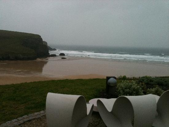The Scarlet Hotel: our view - amazing but nasty weather!