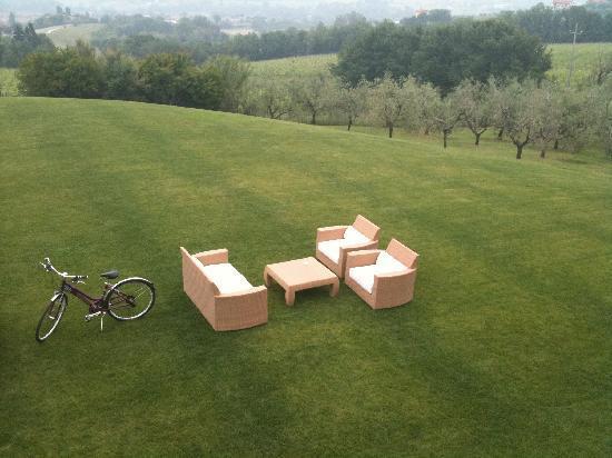 Coriano, Italy: Vista dalla terrazza del locale