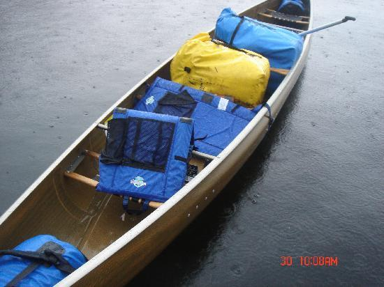 Tuscarora Lodge and Canoe Outfitters: Our canoe - a 4 seater.  Kevlar (perfect and light)