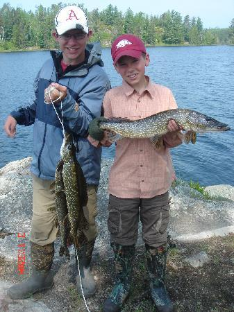 Tuscarora Lodge and Canoe Outfitters: Proud fishermen!