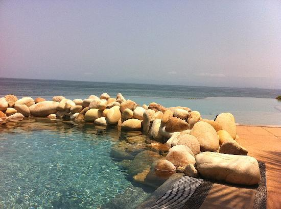 Garza Blanca Preserve, Resort & Spa: View from lounger at pool