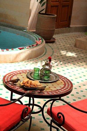 Riad RabahSadia: Le Patio et son bassin chauffé