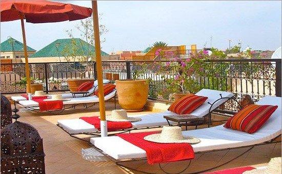 Riad RabahSadia: Une des terrasses