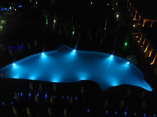 Didim Beach Resort & Spa : main pool at night