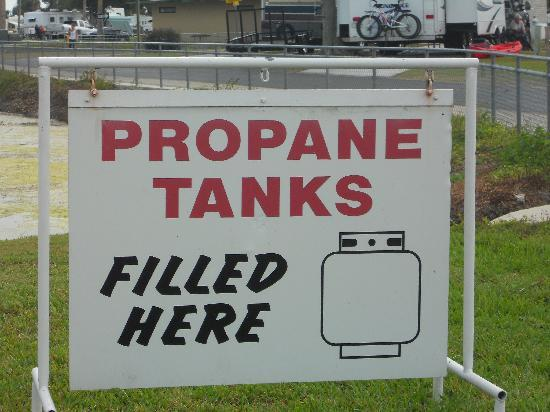 Okeechobee KOA: Propane Tanks filled here!