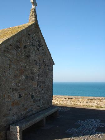 The Keep: 15th Century (rebuilt) chapel of St Nicholas on the Island, St Ives