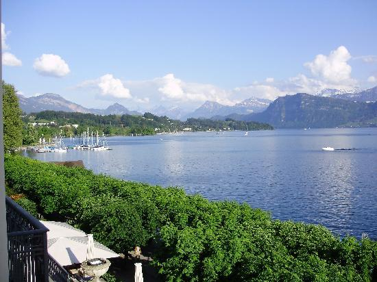 PALACE LUZERN: View from the balcony