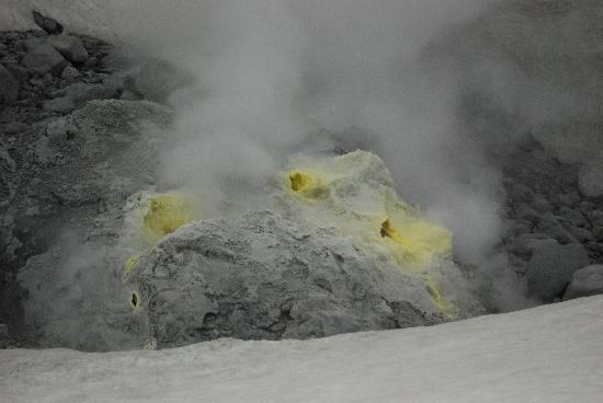 Japan: Sulphuric experience on Mount Asahi.