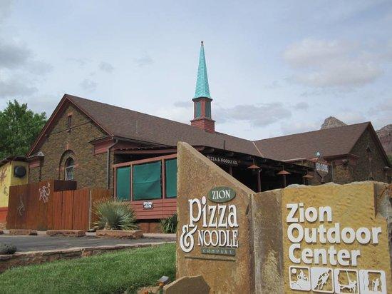 Zion Pizza & Noodle Co : It's in an old church...pretty neat/strange/unique, eh?