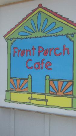The lovely Front Porch Cafe logo graces the nicely appointed Manteo location