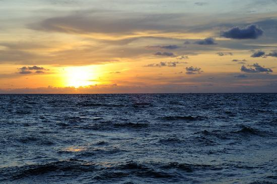 Paris Beach Phu Quoc: Sunset. Picture taken from terrace of restaurant